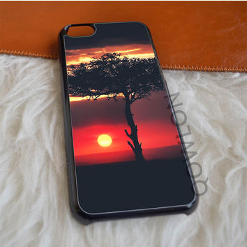 Sunset African Tree Savannah iPhone 5C Case