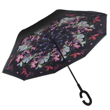 Ceiourich Double Car Reverse Umbrellas Rain Women Men Uv Protection Windproof Sunny Rainy Customized Umbrella-001
