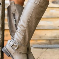 Walk In The Park Boots-Taupe