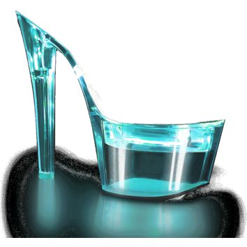 FLASHDANCE Illuminated 2 Band Slide 7 Inch Heels-Stripper Shoes