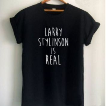 CREYIH3 [LARRY STYLINSON IS REAL] solid color fashion T shirt