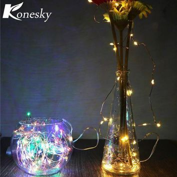 ICIKU7Q 3m LED  Copper  Wire String Light with  Stopper for Glass Craft Bottle Fairy Valentines Wedding Decoration Lamp
