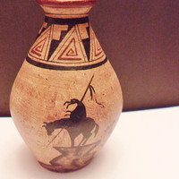 Vaga Southwestern Style Pottery Vase Native American Collectible Home Decor Artist Signed