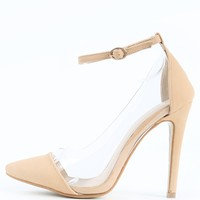 Liliana Olga-1f Pointy Ankle Strap Pumps