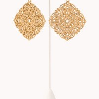 Sleek Filigree Drop Earrings