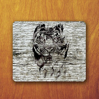 Tiger head Mouse Pad Grey Wood Personalised Funny Custom mouse pad Beautiful and Abstract Office Deco Desk Pad Gift for Boss