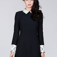 Mod Doll Wednesday Dress in Licorice