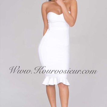 Mia strapless bandage dress
