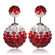 Mise en Gum Tee Style Tribal Earrings  - Crystal Drip Red