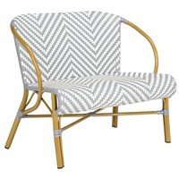 Glenn Outdoor Settee, Gray/White - Poolside Style - Outdoor Essentials - Outdoor | One Kings Lane