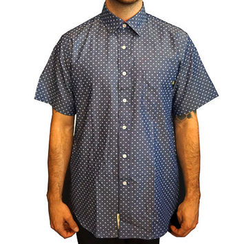 Fearless Stars Short-sleeve Button-up in blue chambray