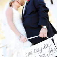 and they lived Happily Ever After -One sided - Ring Bearer sign, Flower girl sign, Disney Wedding Sign