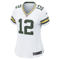Nike NFL Green Bay Packers (Aaron Rodgers) Women's Football Away Game Jersey