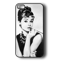 Iphone 5c Case - Thin Shell Plastic Case Iphone 5c Case - Audrey Hepburn + Free Wristband Accessory
