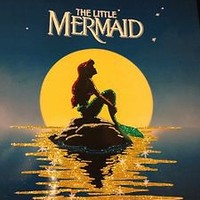 Disneys The Little Mermaid Custom Glitter Poster