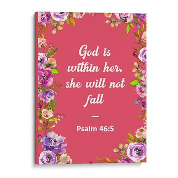 God is Within Her She Will Not Fall - Christian Wall Decor
