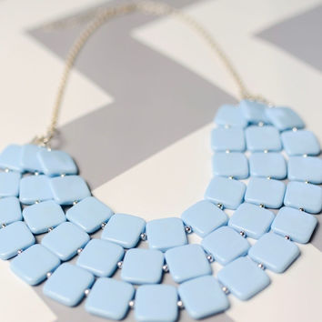 Powder Blue Sassy Necklace