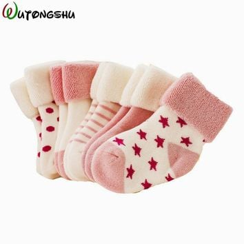 5 Pairs/Lot Winter Warm Baby Girls Boy Socks Spring Summer Newborn Baby Boy Socks Meias Para Bebe Calcetines Calzini Antiscivolo