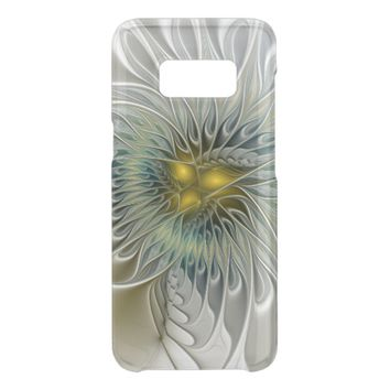 Golden Silver Flower Fantasy abstract Fractal Art Get Uncommon Samsung Galaxy S8 Case