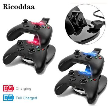 For Xbox one Controller Charging Dock Station USB LED Light Dual Charger For Microsoft Xbox One Gamepad Joystick Game Accessory