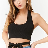 Ribbed Halter Neck Crop Top