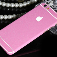 Frosted Pink Sparkle Decal Wrap Skin Set iPhone 6s 6 / iPhone 6s 6 Plus