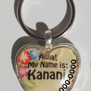 Aloha Pet ID Tag - unique, customized, gift for pets, dog, cat, personalized gift, hawaiian, tropical