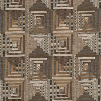 Fabricut 2838903 Log Cabin Quilt Hemp