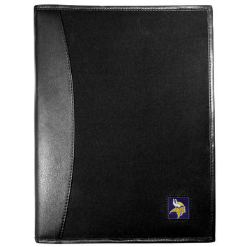 Minnesota Vikings Leather and Canvas Padfolio FPAD165