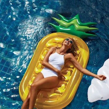180CM Giant Inflatable Flamingo Pool Float Inflatable Swimming Ring Pineapple Floating Pool Inflatable Toys Inflatable Unicorn