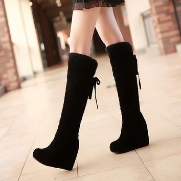 2014 New Long Boots Over The Knee Snow Boots For Women Winter Boots Shoes,EUR Size 34