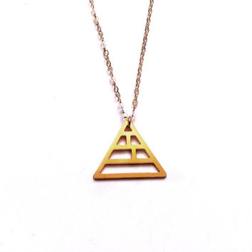 Pyramid Necklace triangle Gold Filled Necklace Icon Jewellery Design Chic Art Logo Necklace Beep Studio Jewellery Gold Plated Small Pendant