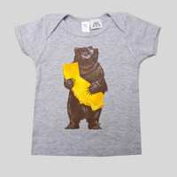 Cali Bear Baby Tee in Athletic by Munk One