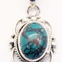 Sterling Silver Turquoise Pendant