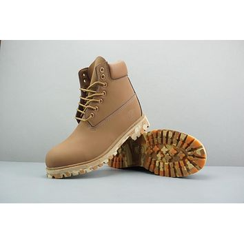 Timberland Leather Lace-Up Boot High Bronze Camo Sole
