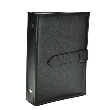 Pu leather Stud Earrings collection book pattern portable jewelry display creative jewelry storage box SM6