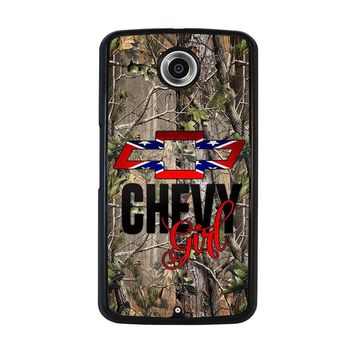 CAMO BROWNING REBEL CHEVY GIRL Nexus 6 Case Cover
