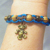 Grateful Dead Dancing Bear Hemp Bracelet girls jewelry hippie handmade