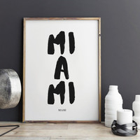 Miami Print, Miami Poster for office decor, city prints, gifts, Miami city Prints, art, Wall Art, Art
