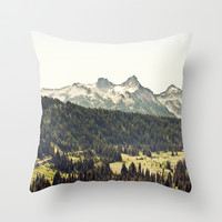 Epic Drive through the Mountains Throw Pillow by Kurt Rahn