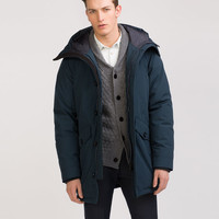 QUILTED THREE QUARTER LENGTH COAT