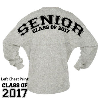 School Spirit Senior Class Of 2017 Game Day Jersey
