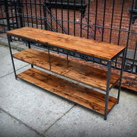 Salvaged Fir and Raw Iron Console