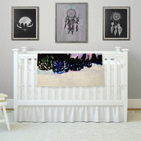 "Theresa Giolzetti ""First Snow"" Purple Blue Fleece Throw Blanket"
