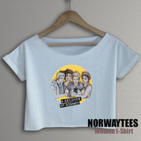 5 Seconds of Summer Shirt Yellow Picture Symbol Printed on White  t-Shirt For Men Or Women Size TS 80