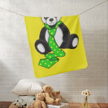 Cute Panda Bear Graphic Stroller Blanket