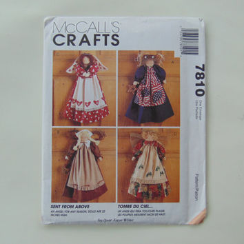 McCall's Crafts 7810 Sent From Above 22 inch Angel Dolls UNCUT Sewing Pattern