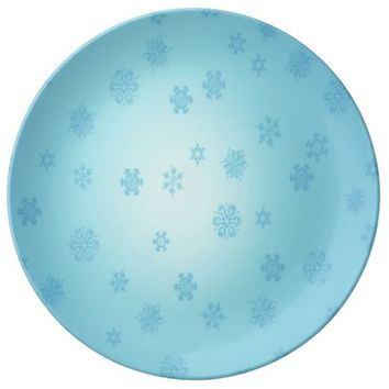 Blue Snowflakes Plate