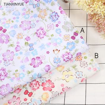 TIANXINYUE Flower fabric 95% Cotton Fabric quilting home bedding patchwork tissue home Textile Sewing Needlework fabric