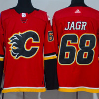 DCCK Calgary Flames Jersey -  #68 Jagr Red Jersey